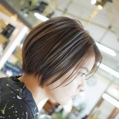 モード ショートボブ ショートヘア 大人ハイライト ヘアスタイルや髪型の写真・画像