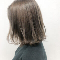 福岡市 ショコラブラウン 切りっぱなしボブ ナチュラル ヘアスタイルや髪型の写真・画像