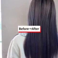 ロング ガーリー インナーカラー デザインカラー ヘアスタイルや髪型の写真・画像