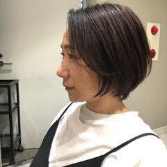 コンサバ 内巻き ショート ヘアオイル ヘアスタイルや髪型の写真・画像