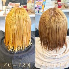 ハイライト ナチュラル ブリーチ 外国人風 ヘアスタイルや髪型の写真・画像