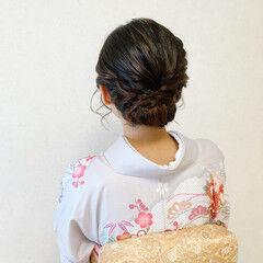 着物 結婚式ヘアアレンジ 結婚式 訪問着 ヘアスタイルや髪型の写真・画像