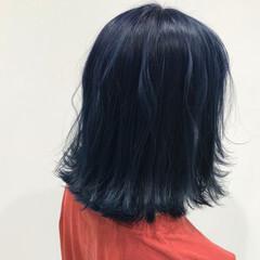 原宿系 ボブ 暗髪 ナチュラル ヘアスタイルや髪型の写真・画像