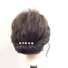 大人かわいい 外国人風 ギブソンタック ボブ ヘアスタイルや髪型の写真・画像