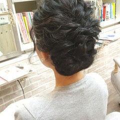 結婚式 セミロング フェミニン バレンタイン ヘアスタイルや髪型の写真・画像