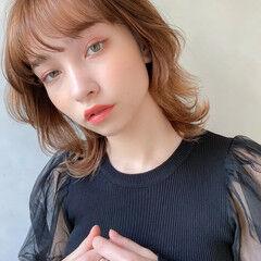 デート ガーリー 大人かわいい ミディアム ヘアスタイルや髪型の写真・画像