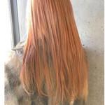 ガーリー 外国人風カラー アプリコットオレンジ ハイトーン
