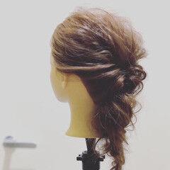 ナチュラル ロング 簡単ヘアアレンジ ヘアアレンジ ヘアスタイルや髪型の写真・画像