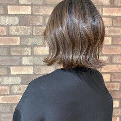 ナチュラル ナチュラルグラデーション イルミナカラー 切りっぱなしボブ ヘアスタイルや髪型の写真・画像