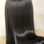 ツヤ髪 セミロング 髪質改善トリートメント n.
