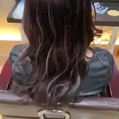 ラベンダーアッシュ ロング ネイビーブルー イルミナカラー ヘアスタイルや髪型の写真・画像