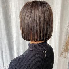 ミニボブ ショートボブ ナチュラル ショートヘア ヘアスタイルや髪型の写真・画像