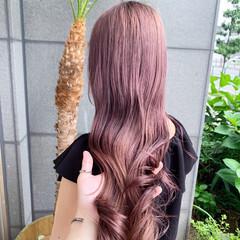 ラベンダーピンク ピンクカラー ピンクベージュ ピンクラベンダー ヘアスタイルや髪型の写真・画像