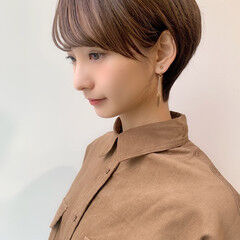 ミニボブ ナチュラル イメチェン ショートボブ ヘアスタイルや髪型の写真・画像