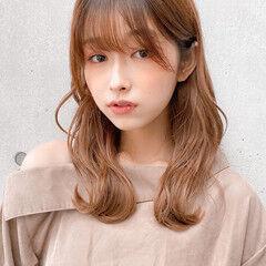 レイヤースタイル モテ髪 セミロング デジタルパーマ ヘアスタイルや髪型の写真・画像