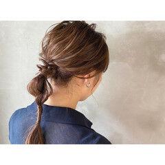 ロング 大人ハイライト エレガント 結婚式ヘアアレンジ ヘアスタイルや髪型の写真・画像