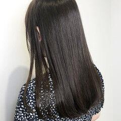 透明感カラー ダークカラー ロング ナチュラル ヘアスタイルや髪型の写真・画像