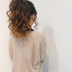 セミロング ヘアセット ポニーテール ポニーテールアレンジ ヘアスタイルや髪型の写真・画像