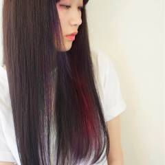 ピンク ブルー 夏 レッド ヘアスタイルや髪型の写真・画像
