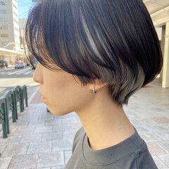 ブリーチ ボブ ホワイトブリーチ ナチュラル ヘアスタイルや髪型の写真・画像