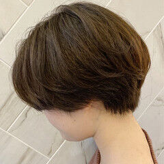 銀座美容室 ショート ショートボブ 20代 ヘアスタイルや髪型の写真・画像