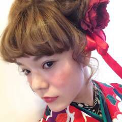振袖 ヘアアレンジ ミディアム ヘアスタイルや髪型の写真・画像