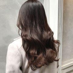 簡単ヘアアレンジ ヨシン巻き セミロング 透明感カラー ヘアスタイルや髪型の写真・画像