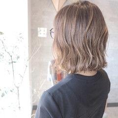ハイライト ボブ ダブルブリーチ ガーリー ヘアスタイルや髪型の写真・画像