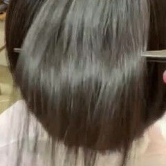 髪質改善 くせ毛 縮毛矯正 ショートヘア ヘアスタイルや髪型の写真・画像