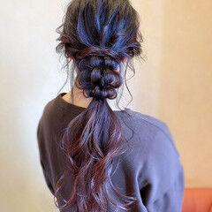フェミニン 簡単ヘアアレンジ お呼ばれ ロング ヘアスタイルや髪型の写真・画像