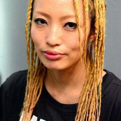 パーマ ツイスト ロング ドレッド ヘアスタイルや髪型の写真・画像