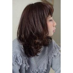 セミロング ヴィンテージ アッシュ 大人女子 ヘアスタイルや髪型の写真・画像
