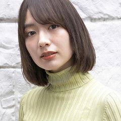 簡単スタイリング 似合わせカット インナーカラー 前髪あり ヘアスタイルや髪型の写真・画像