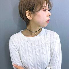 ショート 簡単スタイリング アイロンワーク 簡単ヘアアレンジ ヘアスタイルや髪型の写真・画像