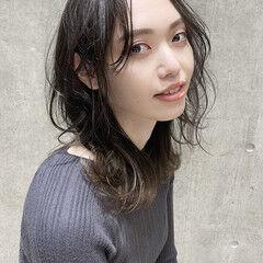 ミディアム 髪質改善トリートメント 大人ミディアム 髪質改善 ヘアスタイルや髪型の写真・画像