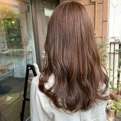 ロング ブラウンベージュ ブラウン マロン ヘアスタイルや髪型の写真・画像