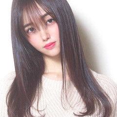 ナチュラル 可愛い レイヤーロングヘア 韓国ヘア ヘアスタイルや髪型の写真・画像