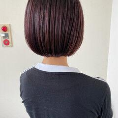 トワイライトパープル ブリーチカラー パープル ナチュラル ヘアスタイルや髪型の写真・画像