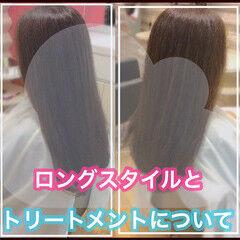 うる艶カラー ロング ナチュラル 髪質改善 ヘアスタイルや髪型の写真・画像