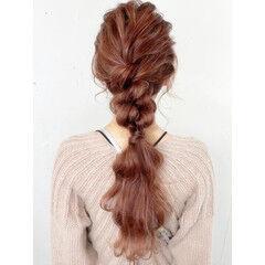 ヘアアレンジ 簡単ヘアアレンジ セルフヘアアレンジ ロング ヘアスタイルや髪型の写真・画像