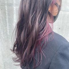 ナチュラル イヤリングカラー 透明感カラー ロング ヘアスタイルや髪型の写真・画像