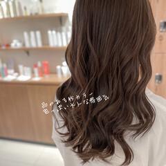 波巻き エレガント ショコラブラウン ブリーチなし ヘアスタイルや髪型の写真・画像