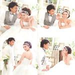 ヘアアレンジ ブライダル セミロング 結婚式