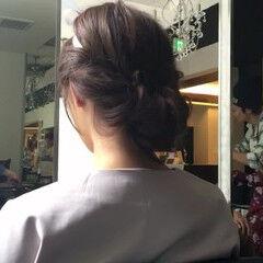 ヘアアレンジ ギブソンタック 簡単ヘアアレンジ ロング ヘアスタイルや髪型の写真・画像