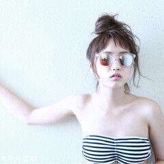 夏 色気 フェス ガーリー ヘアスタイルや髪型の写真・画像