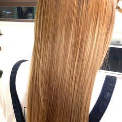 髪質改善トリートメント ナチュラル可愛い 髪質改善カラー セミロング ヘアスタイルや髪型の写真・画像