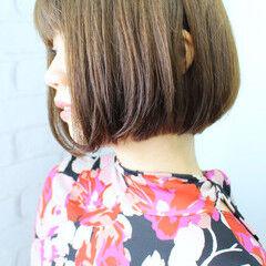 ミニボブ ナチュラル ショートヘア ばっさり ヘアスタイルや髪型の写真・画像