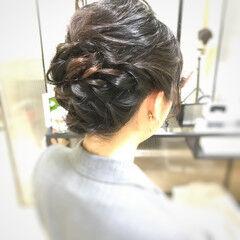 卒業式 ミディアム 結婚式 お呼ばれ ヘアスタイルや髪型の写真・画像