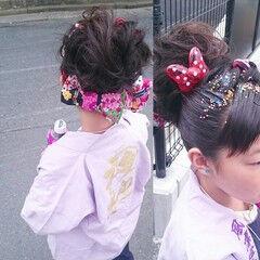 ミディアム 和装 和服 着物 ヘアスタイルや髪型の写真・画像