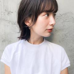 ベビーバング ハンサムショート おフェロ モテ髪 ヘアスタイルや髪型の写真・画像